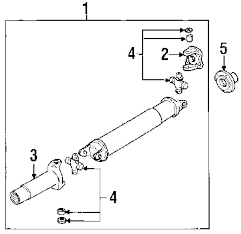 Mazda B2300 Driveshaft Parts Diagram. Mazda. Auto Parts