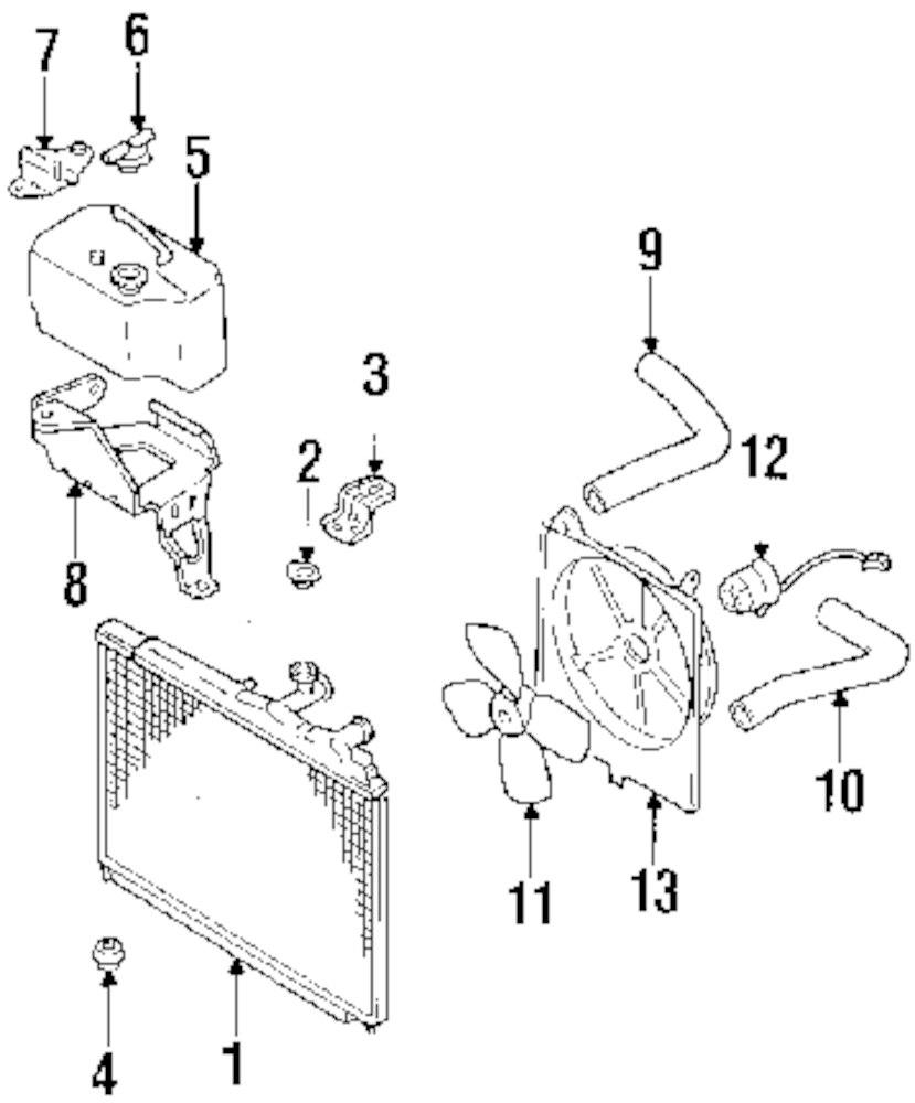 Genuine mazda radiator maz f29315200