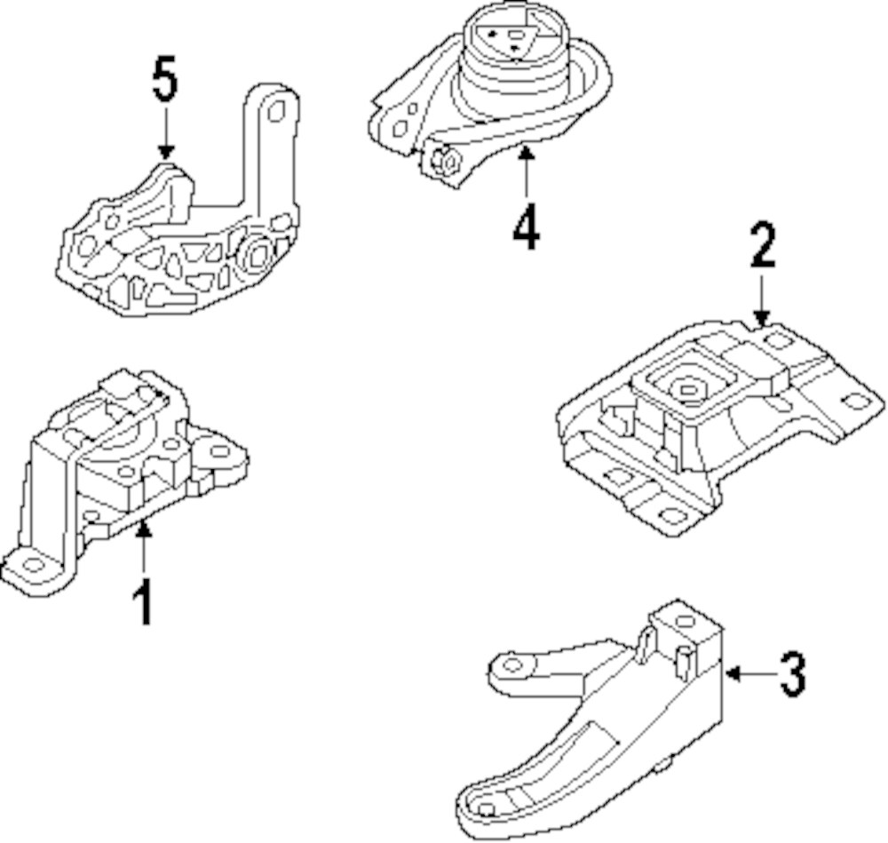 medium resolution of genuine mazda mount bracket maz bp4n39010d