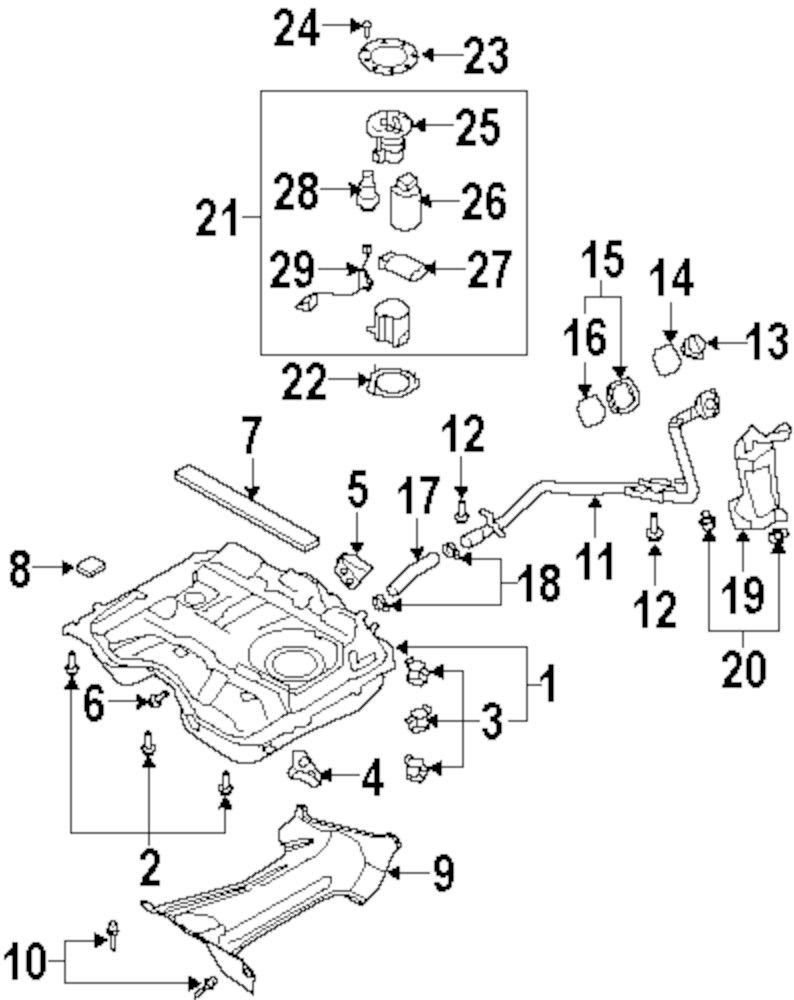 Genuine mazda rear mount maz l20742750a