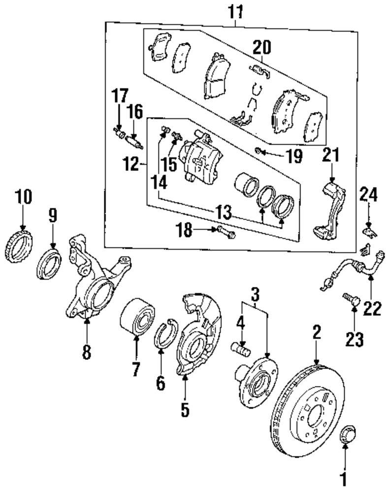 Genuine mazda shaft hub bolts maz j00y33062