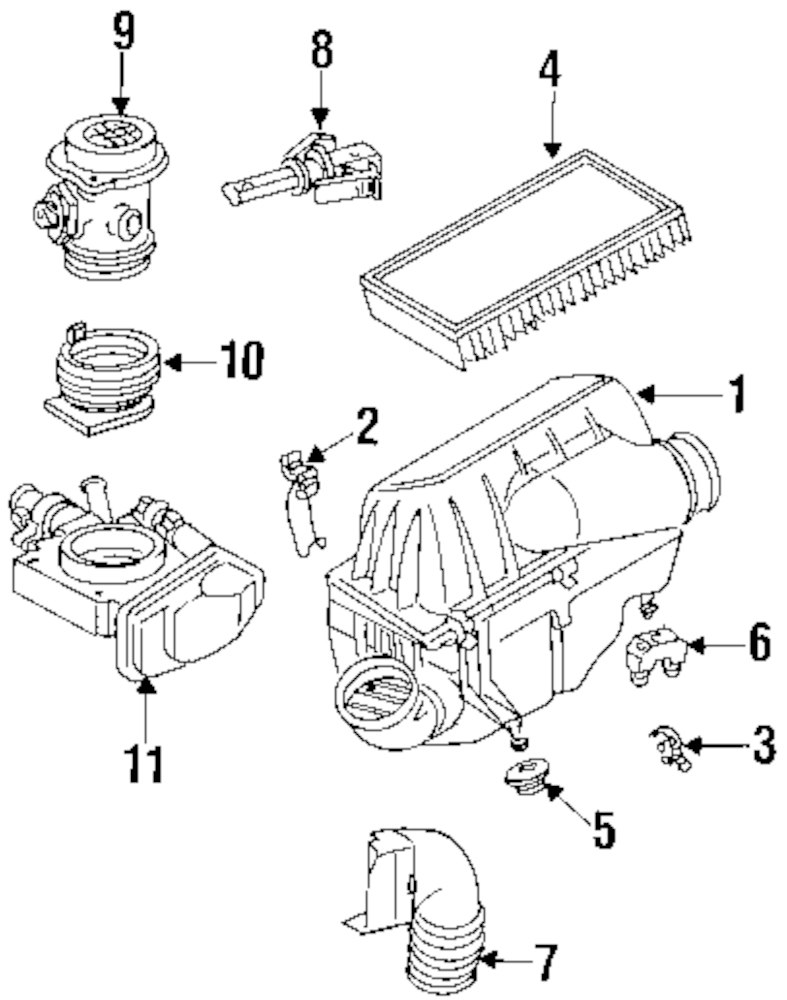 hight resolution of genuine mercedes benz air cleaner assy clip mbz 0000943255