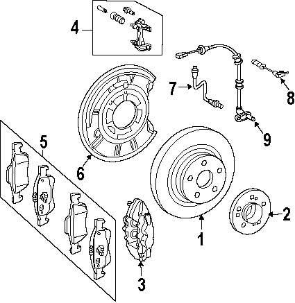 medium resolution of genuine mercedes benz brake pads mbz 0044204420