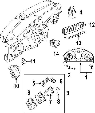 2011 LEXUS RX350 Cluster And Switches Parts