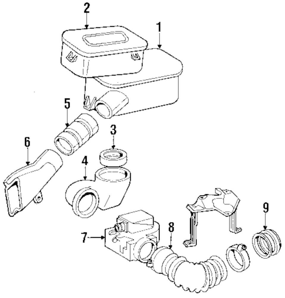 1991 MERCEDES-BENZ 350SDL Air Inlet Parts