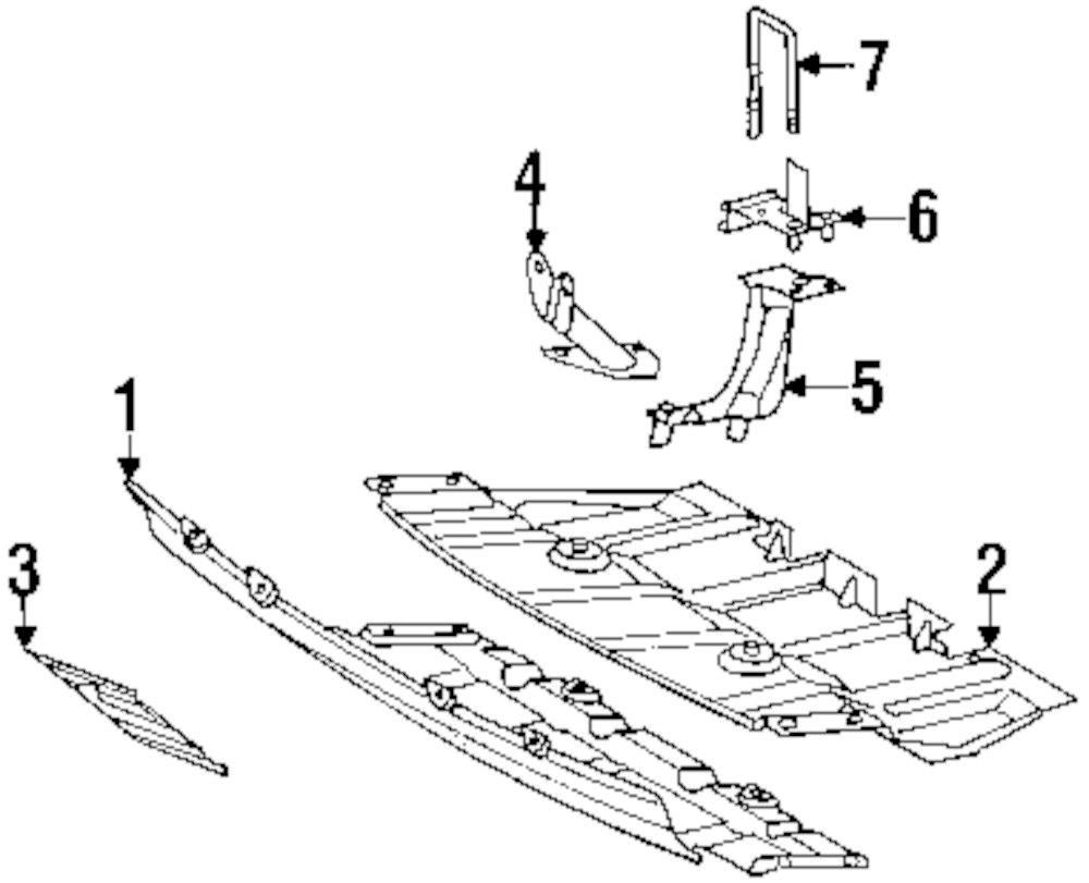 2004 MERCEDES-BENZ ML350 Radiator Support Parts