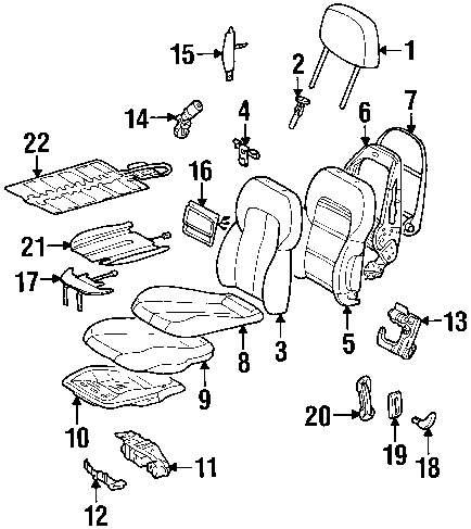 2001 MERCEDES-BENZ CLK430 Front Seat Components Parts