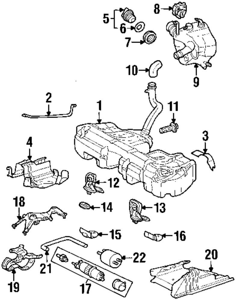2001 MERCEDES-BENZ CLK430 Fuel System Components Parts