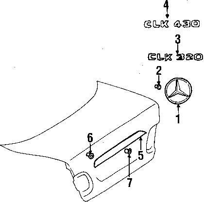 2001 MERCEDES-BENZ CLK430 Trunk Lid Parts