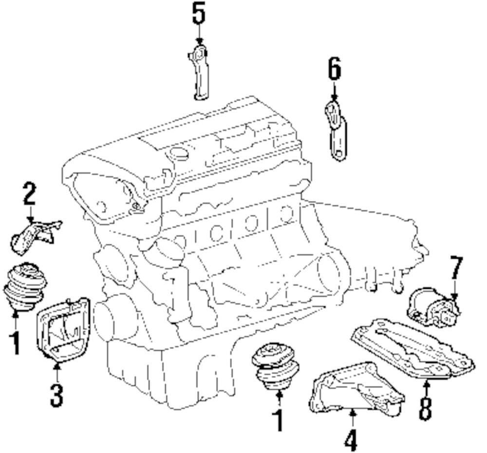 hight resolution of genuine mercedes benz front mount shield mbz 2032410634