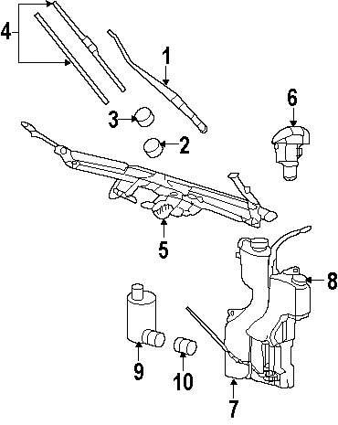 Genuine mitsubishi wiper arm mit 55154897ad
