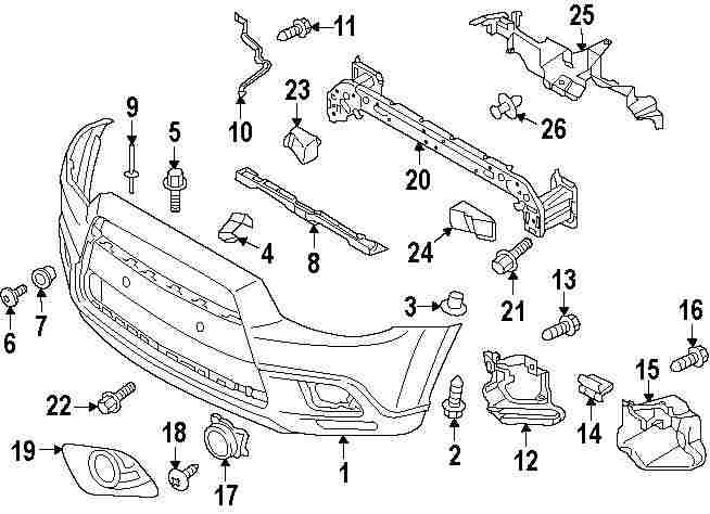 2015 MITSUBISHI OUTLANDER SPORT Bumper And Components
