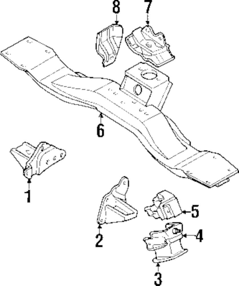 Genuine mitsubishi motor mount stopper mit mr210226