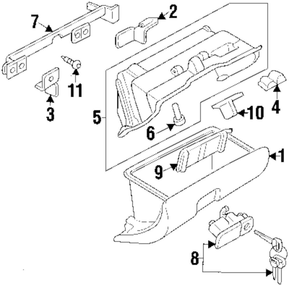 Genuine mitsubishi glove box stopper mit mb562195