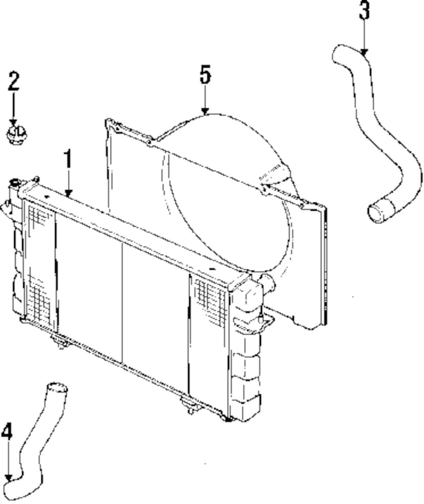 Genuine land rover radiator ran esr74
