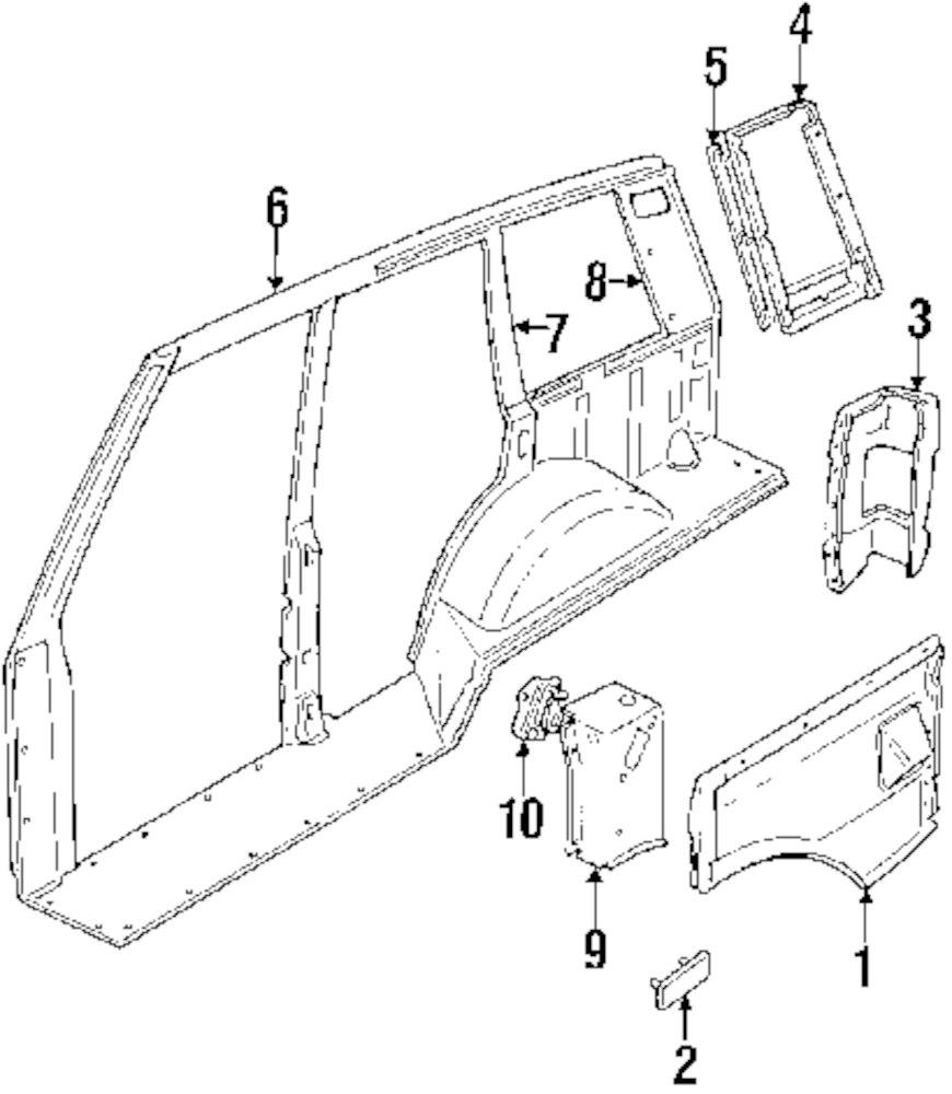Genuine land rover corner panel ran rtc6203