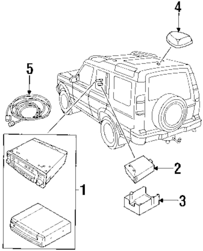 Genuine land rover control module ran ywq100031l