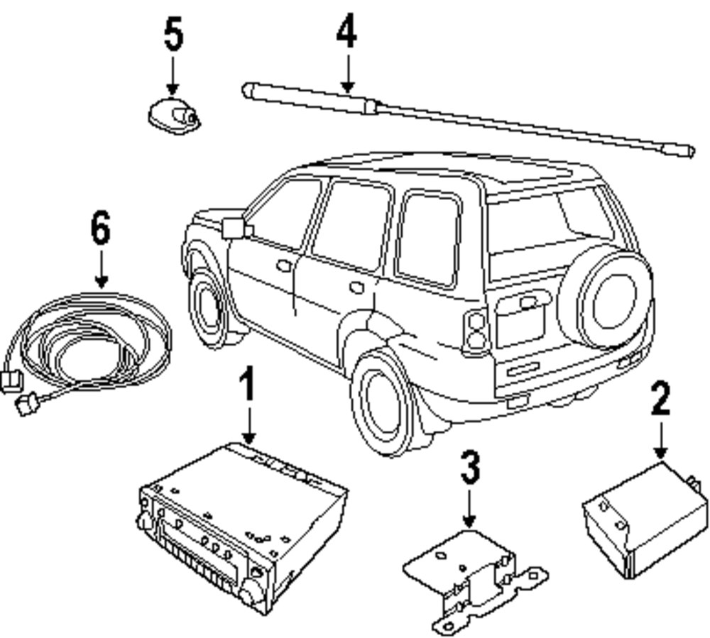 Genuine land rover support ran xuc000030
