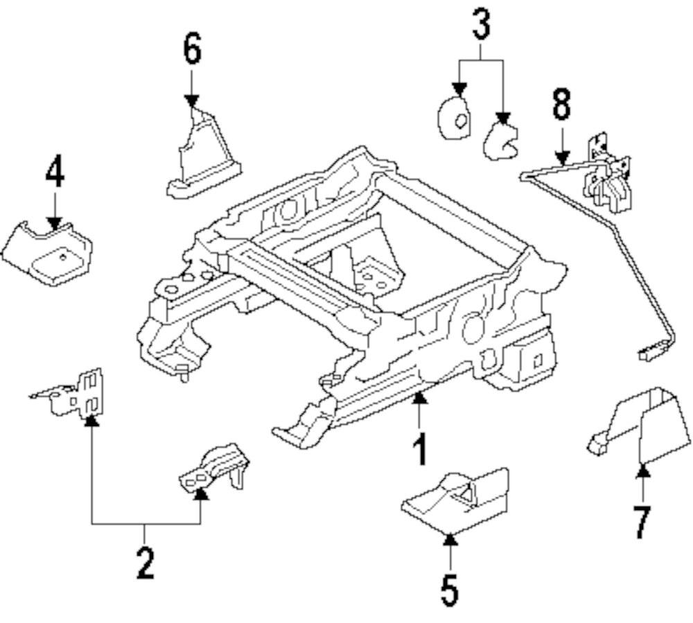 Genuine land rover track assy front bracket ran lr003008