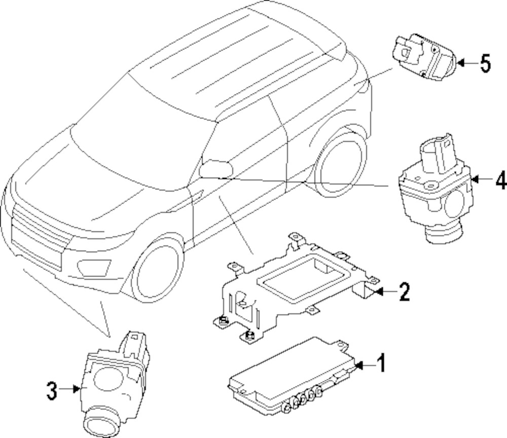 Genuine land rover mount bracket ran lr025891