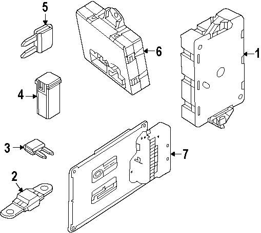 Genuine land rover fuse box ran lr041091