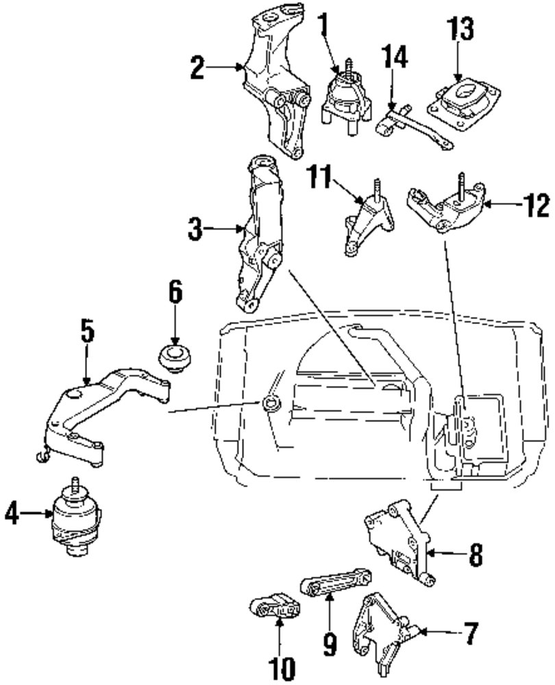 2002 saab 9 5 engine and trans mounting parts rh mopardirectparts saab 9 5 exhaust diagram saab 9 5 exhaust diagram