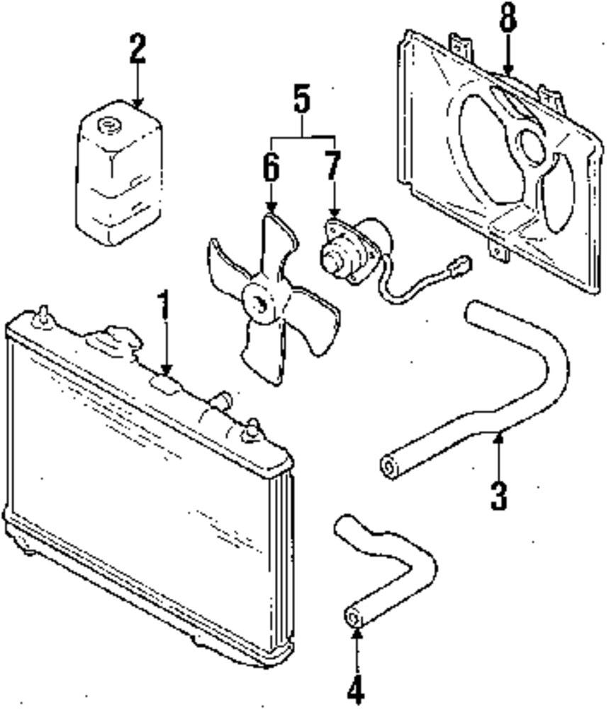 Genuine subaru radiator sub 745181460