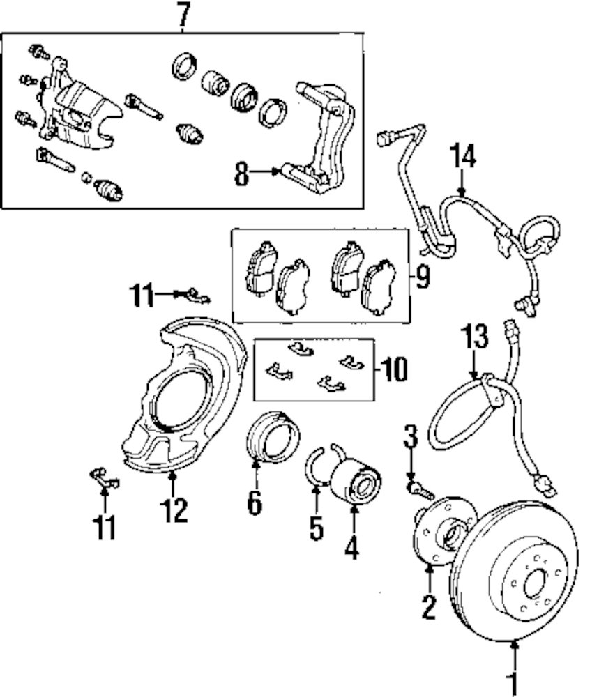 Genuine lexus brake pads clip lex 0494733120
