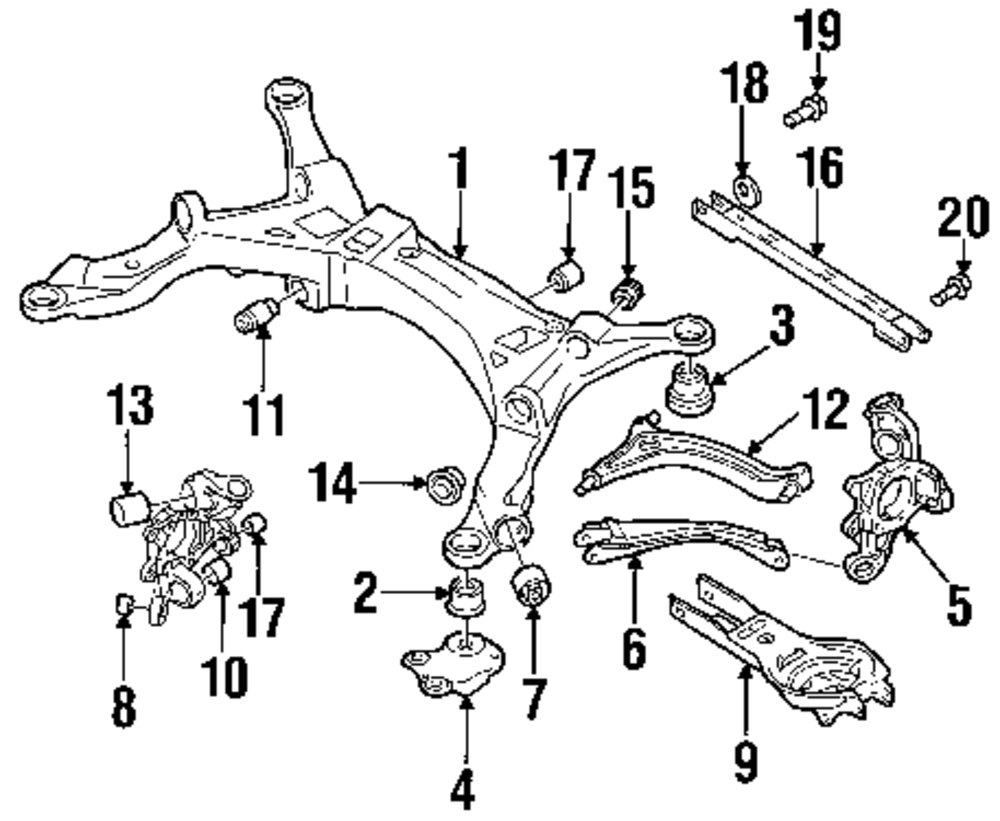 2000 Volvo V70 Front Suspension Diagram. Volvo. Auto Parts