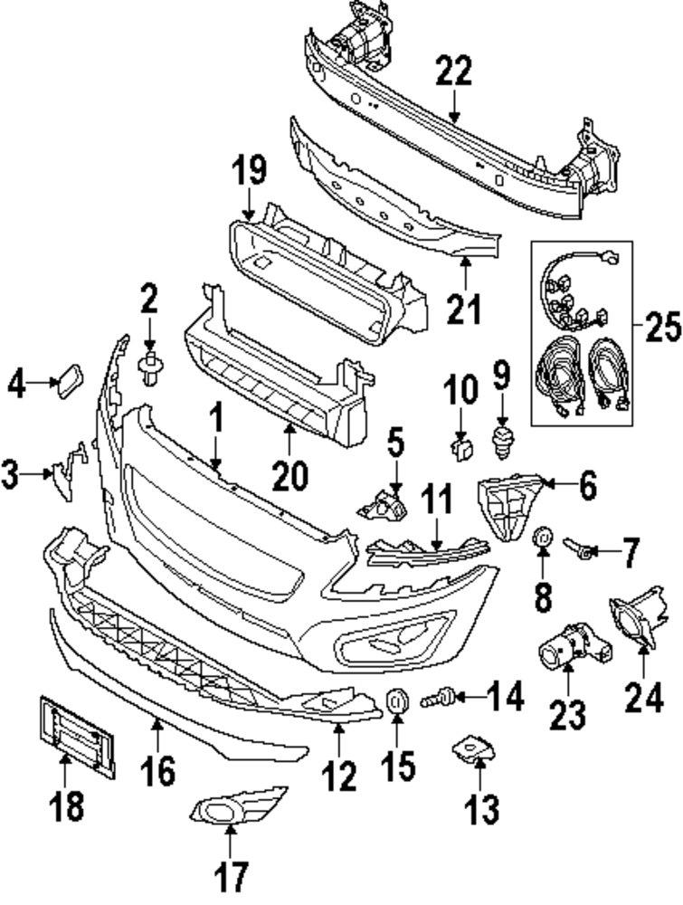 Volvo Front Bumper Parts Diagram. Volvo. Wiring Diagrams