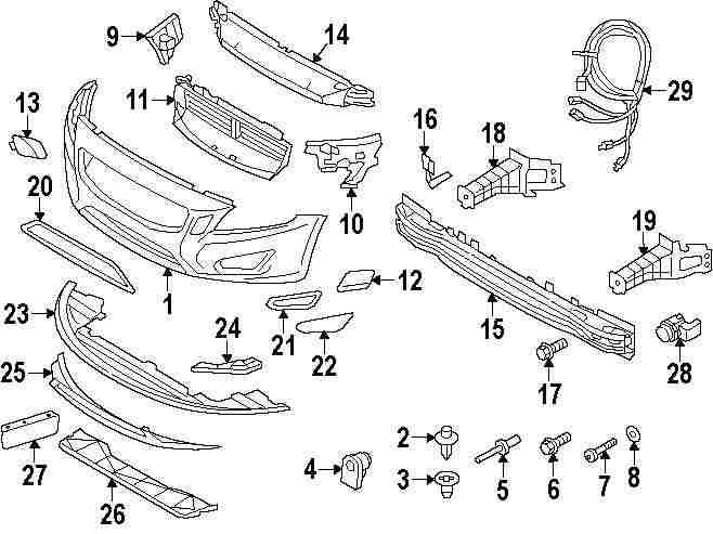 2015 MITSUBISHI OUTLANDER SPORT Bumper And Components