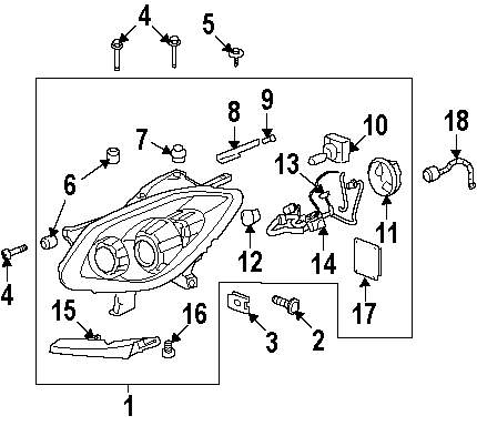 hight resolution of 2008 buick enclave headlamp components parts this is not a real rh 100628 1440 nexpartb2c com 2008 gmc acadia parts diagram 2008 buick enclave wiring