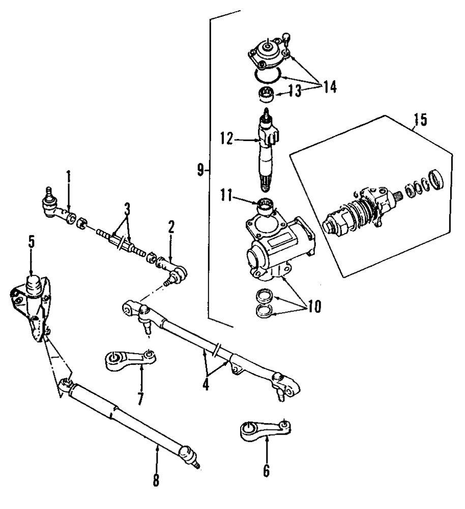 medium resolution of genuine isuzu idler arm bracket isu 8971028230