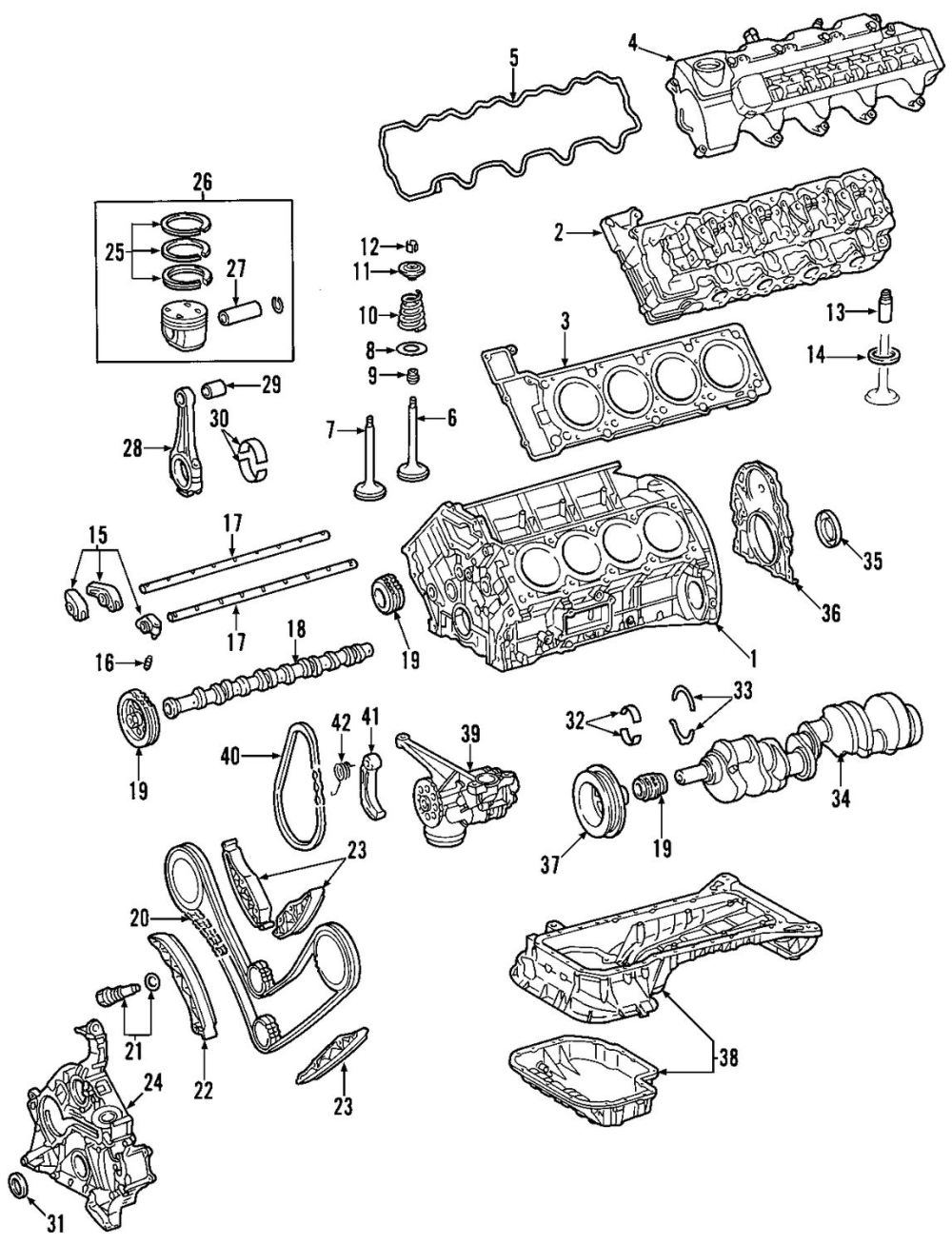 medium resolution of buy crankshaft and bearings parts for mercedes benz g55 amg vehicle mercedes benz sprinter parts diagram mercedes benz parts diagrams