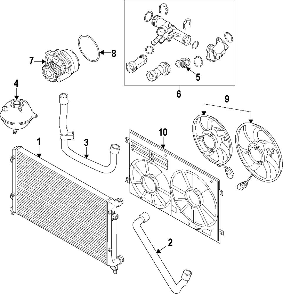 medium resolution of genuine volkswagen water pump assy gasket vwg 04l121119f