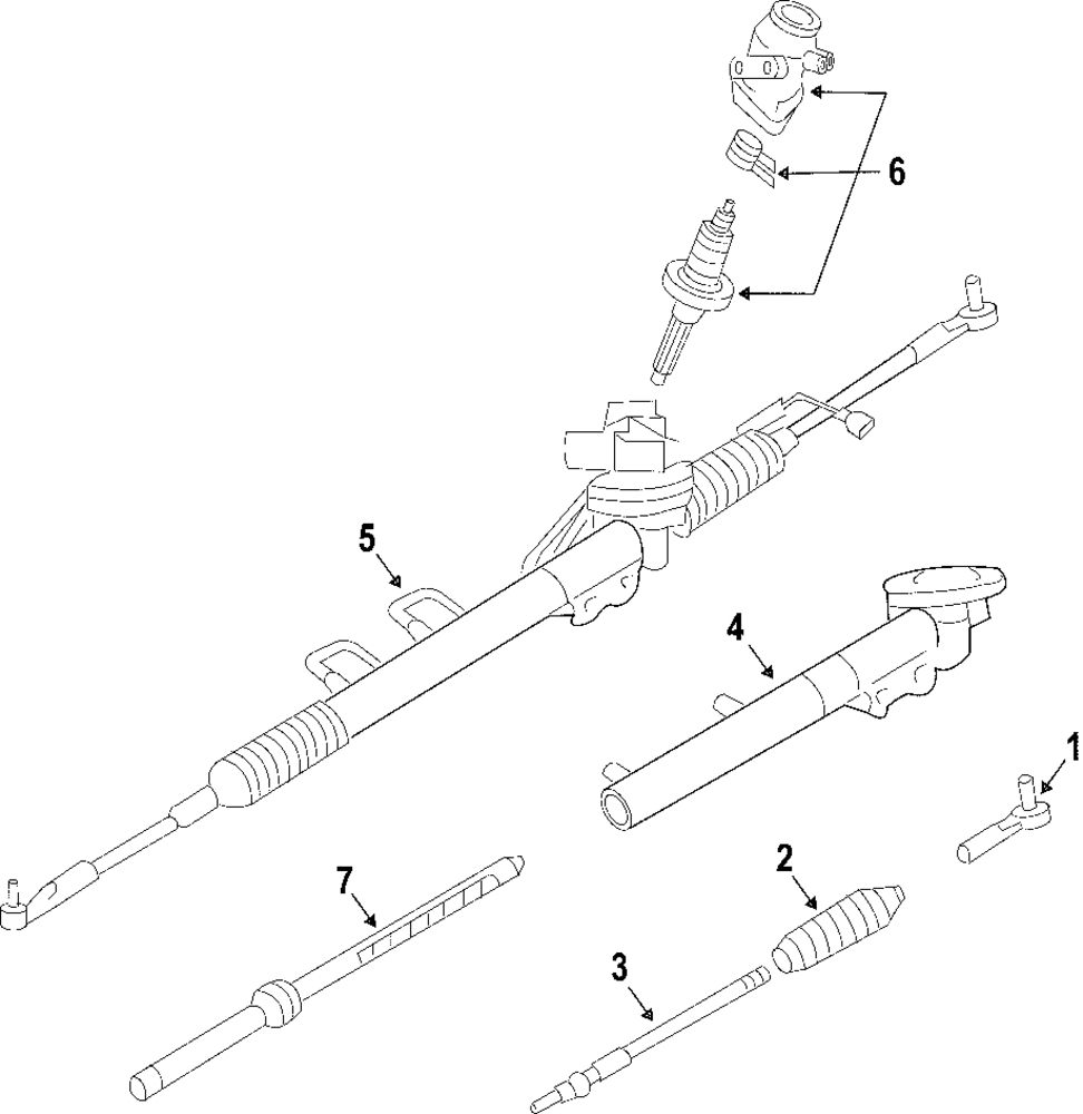 2003 INFINITI G35 Steering Gear And Linkage Parts