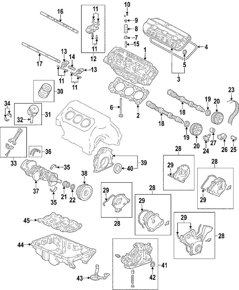 2005 HONDA PILOT Pistons Rings And Bearings Parts