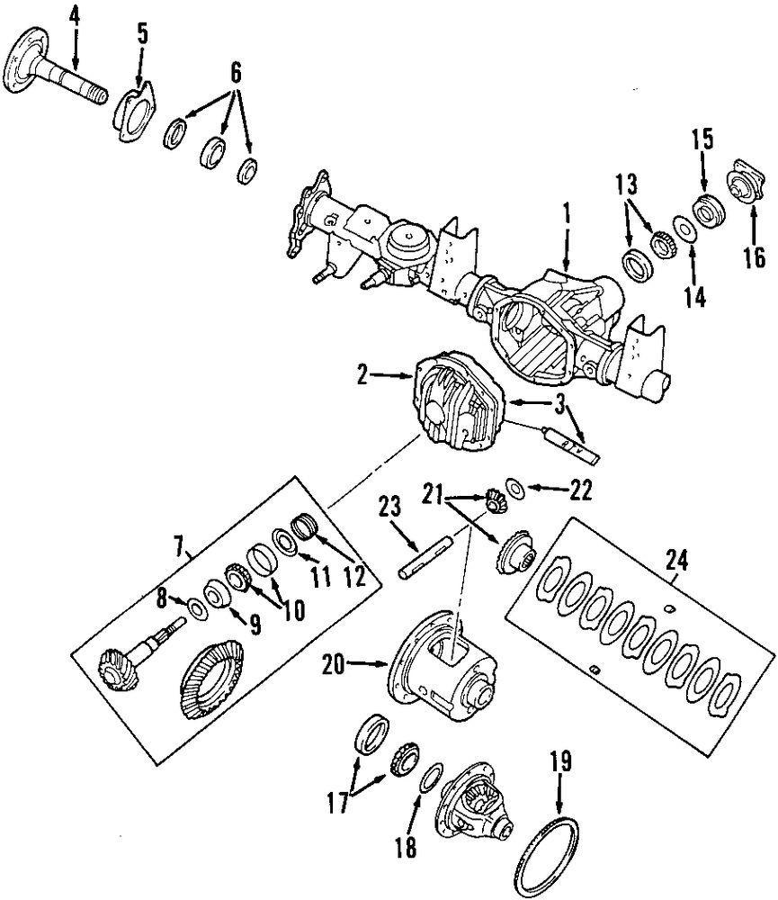 2001 ISUZU RODEO SPORT Differential Parts