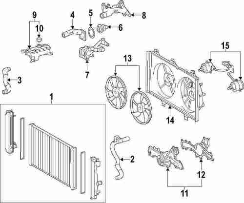 small resolution of genuine toyota shroud toy 167110p180