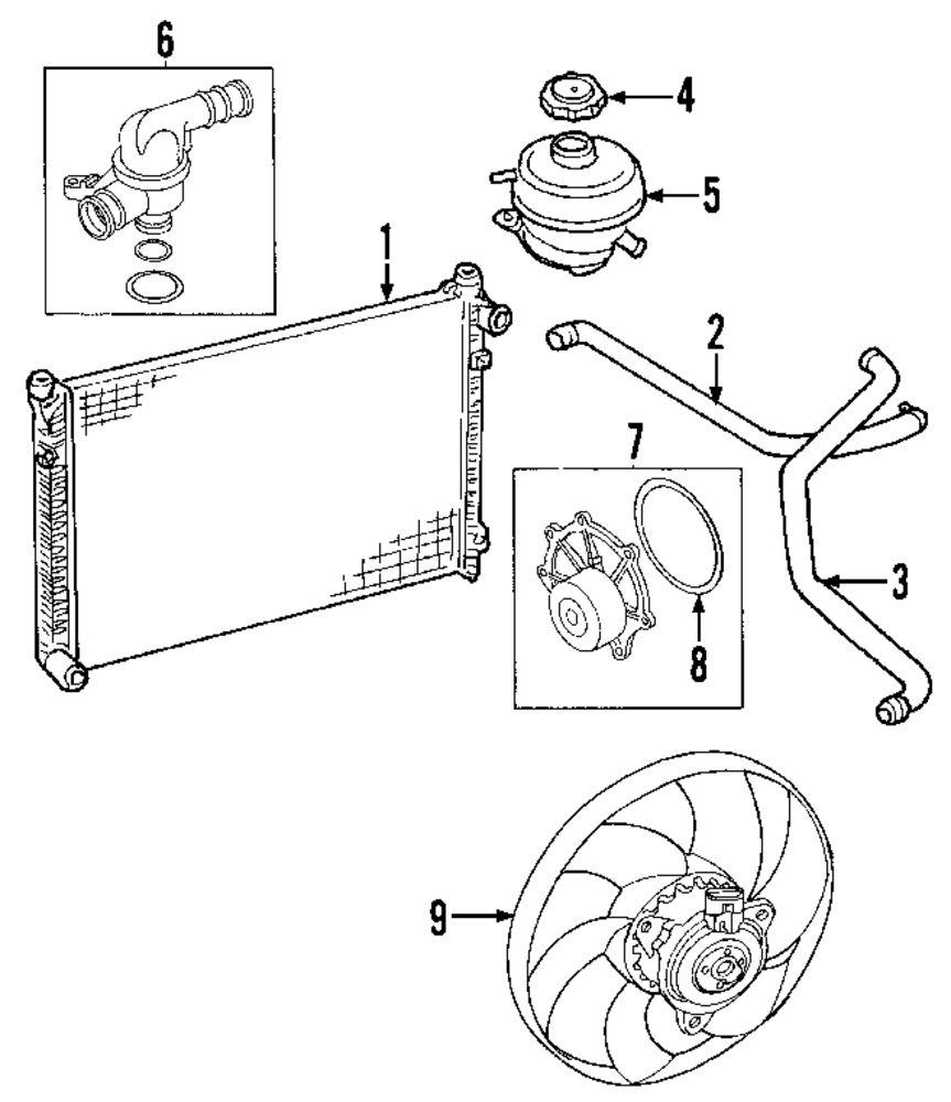 Genuine land rover radiator lan pcc000321