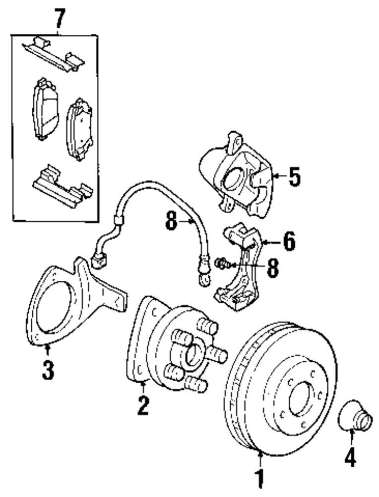 Mitsubishi Endeavor Rear Suspension Parts
