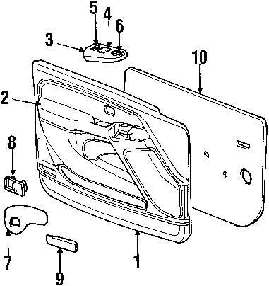 medium resolution of genuine chevrolet switch bezel che 15070366