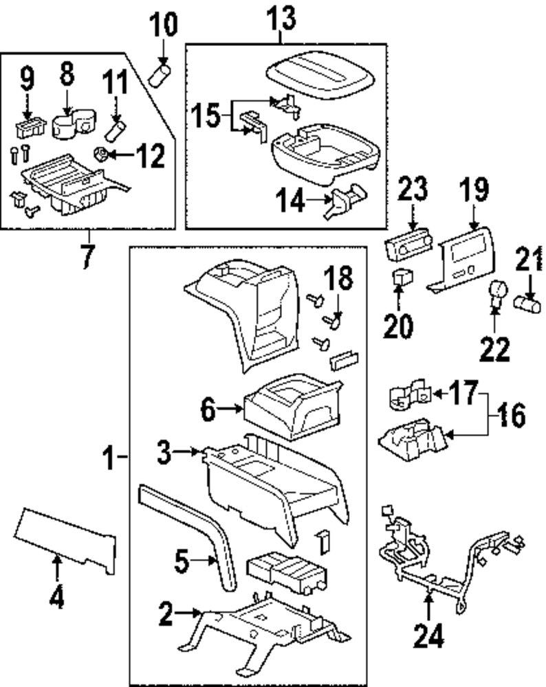 Center Console Part Diagram