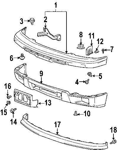 2005 Ford Escape Front Bumper Parts Diagram. Ford. Auto