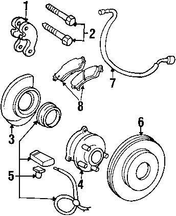 Genuine gmc speed sensor gmc 19181876