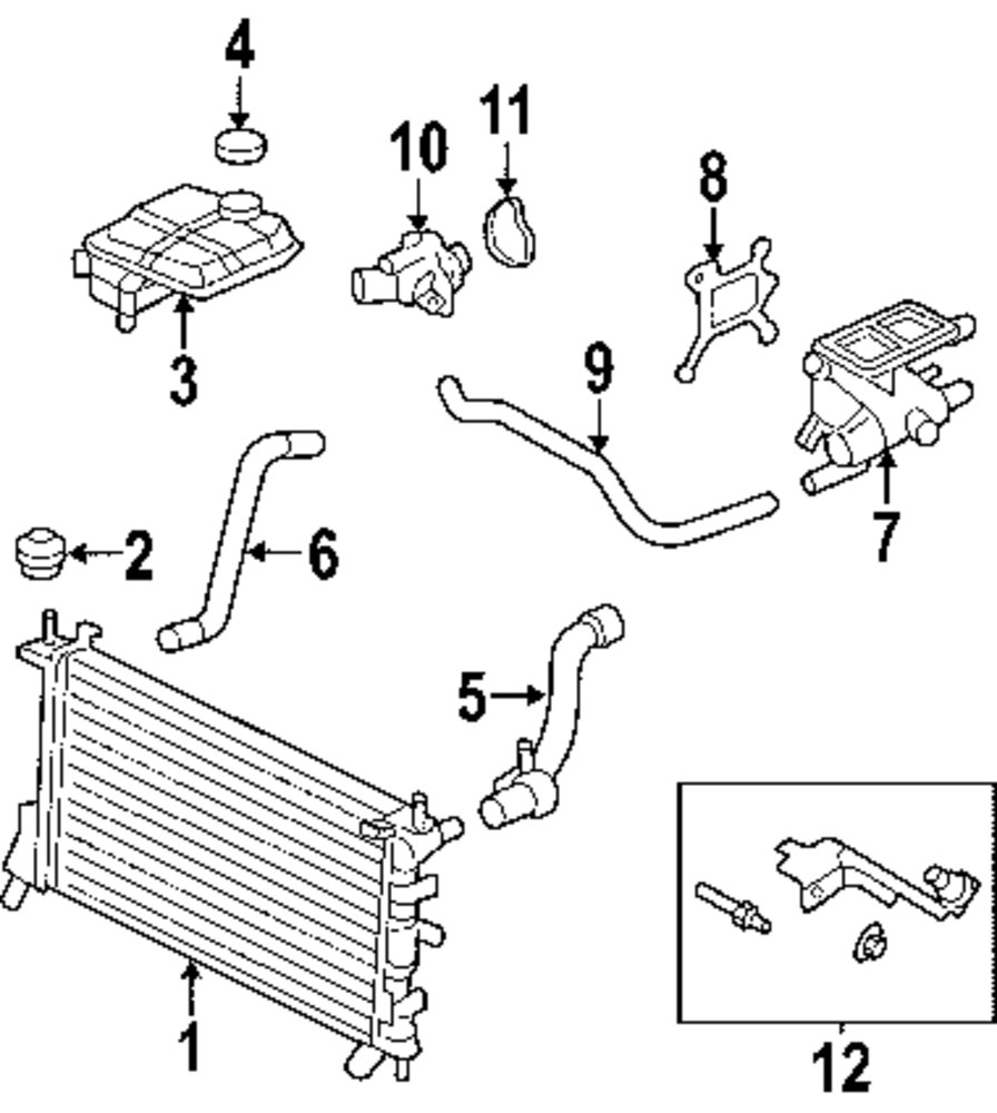 2002 Ford focus cooling system diagram