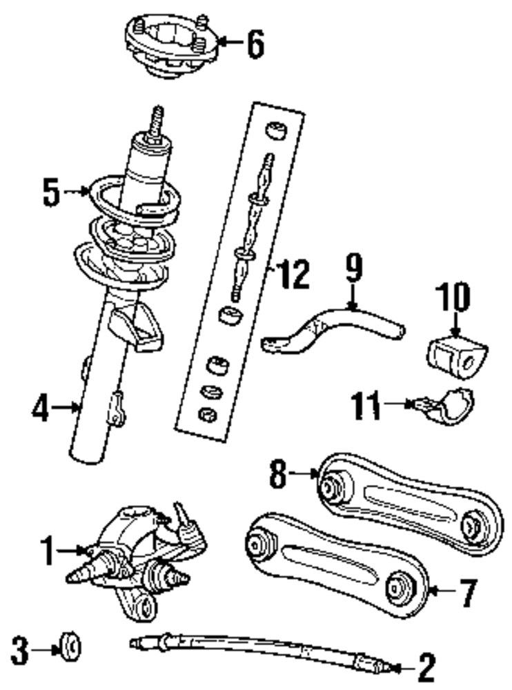Ford Taurus Suspension Diagram. Ford. Auto Parts Catalog