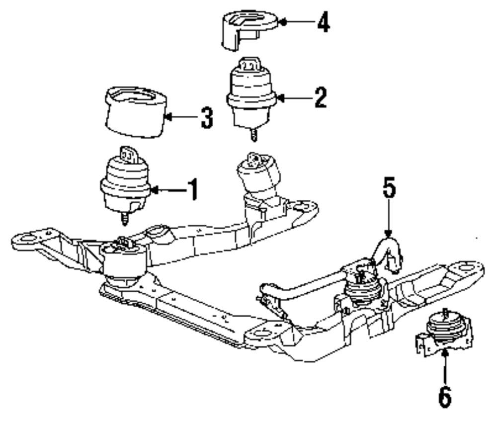 Ford taurus engine mount location