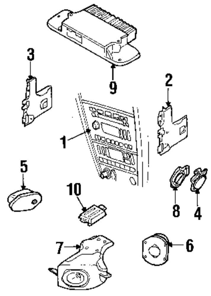 2004 FORD THUNDERBIRD Sound System Parts