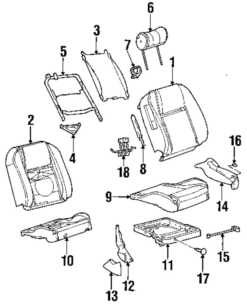 Genuine ford lumbar support for yf1z5464842aa